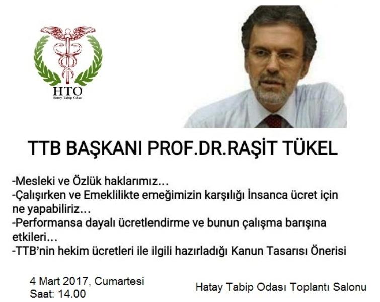 TTB Merkez Konsey Başkanı Hatay'lı Hekimlerle Buluşuyor